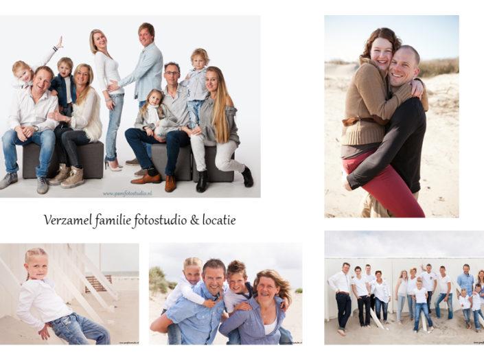 Verzamel familie fotostudio & locatie