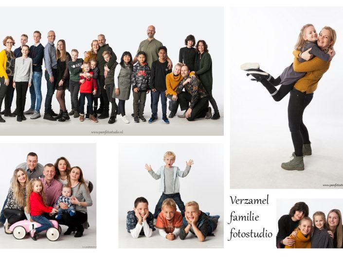 Verzamel familie fotostudio